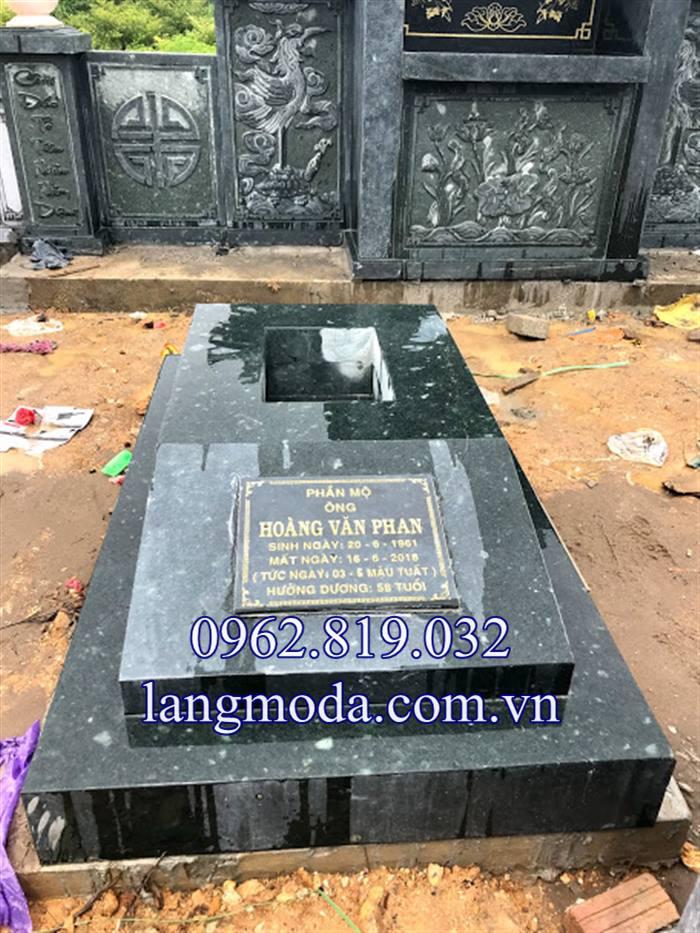 Lăng mộ đá xanh khối giá rẻ 2019