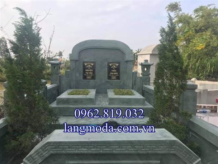Lăng mộ đá xanh rêu nguyên khối giá rẻ nhất 2019- 01 , Lăng mộ đá xanh khối giá rẻ 2019
