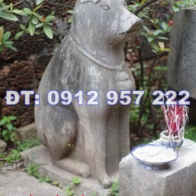 Tục thờ tượng con chó đá phong thủy ở Việt Nam rất phổ biến