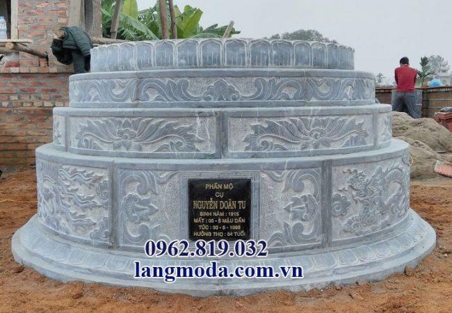 mộ đá tròn giá rẻ