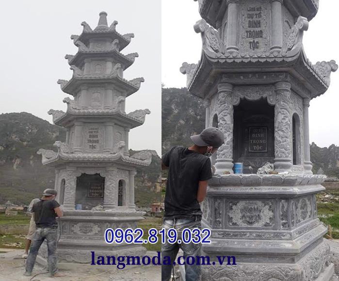 Mộ tháp đá, mẫu mộ tháp, mộ tháp