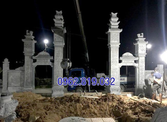 Cổng nhà thờ họ đẹp, mẫu cổng nhà thờ họ, công nhà thờ họ bằng đá, Cổng từ đường