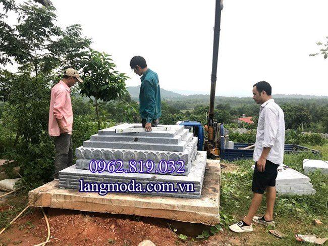 Lắp đặt mộ tháp nhà phật tại Vinh phúc