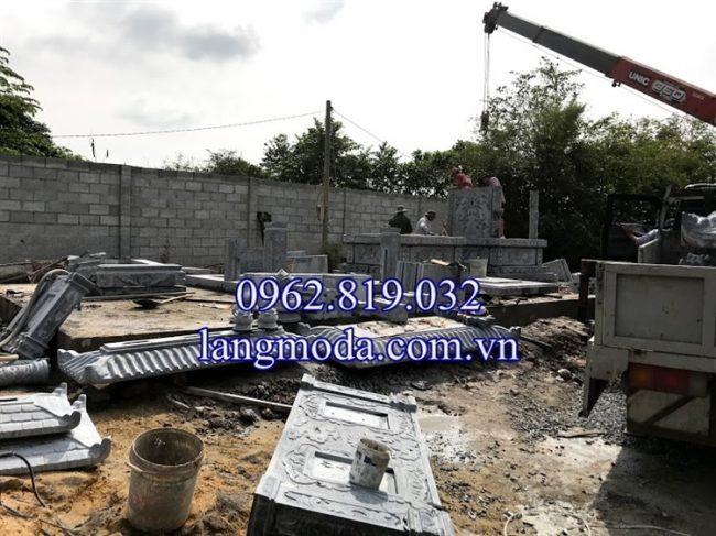 Làm mẫu mộ đôi đá - xây mộ tháp đá để hài cốt tại Sài Gòn