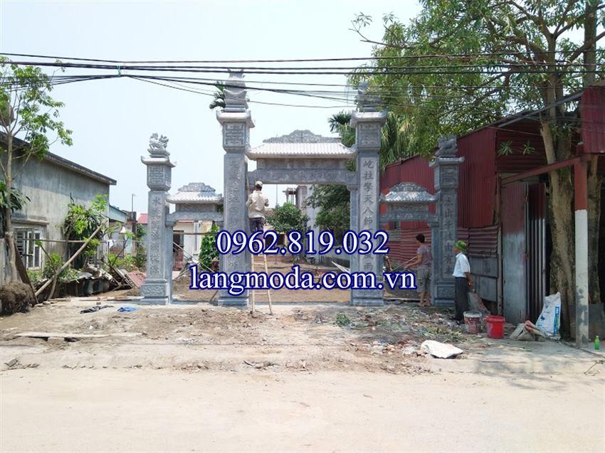 Xây cổng đá nhà thờ họ từ đường đẹp tại Vĩnh Bảo Hải Phòng