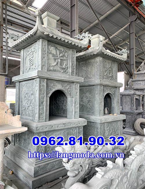 Mẫu tháp mộ để tro cốt đá xanh rêu, Tháp mộ đẹp để tro cốt