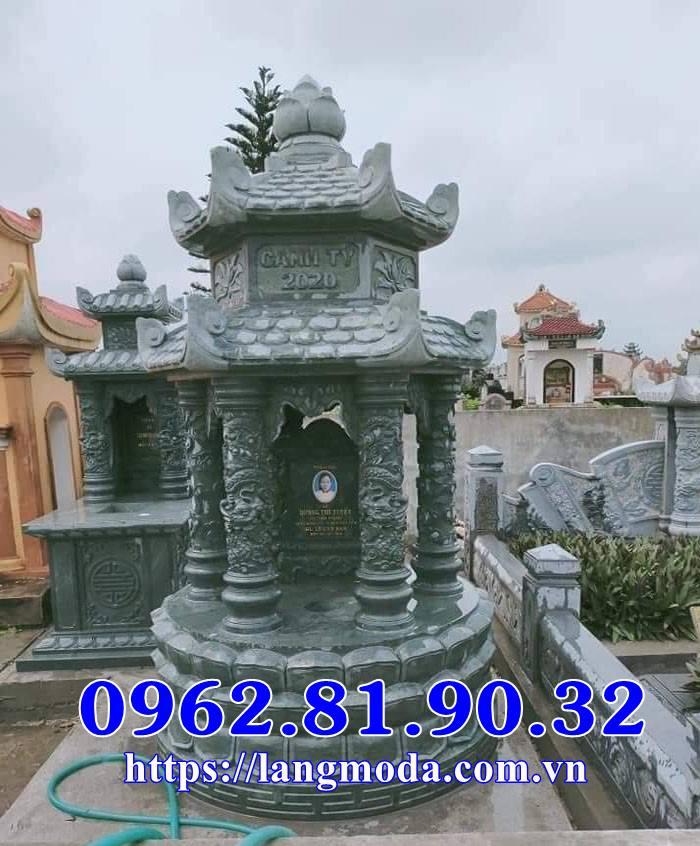 Mộ tròn đá xanh rêu, mẫu mộ xanh rêu hình tròn đẹp