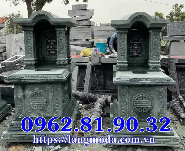 Thiết kế mộ đôi đẹp xanh rêu, Mộ đôi đá xanh rêu