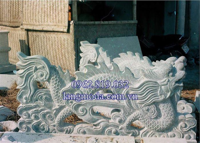 Mẫu lan can rồng đá bậc tam cấp nhà thờ họ đình chùa