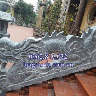 Mẫu lan can rồng đá bậc thềm tam cấp nhà thờ họ đình chùa 04