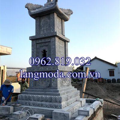 Xây mẫu mộ tháp đá để hài cốt tại Long An