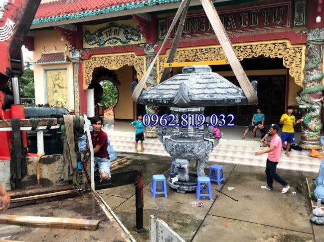 Lắp đặt lư hương đá xanh tại Chùa Long Hoa Cổ Tự hồ chí Minh , Lắp đặt lư hương đá xanh tại Chùa Long Hoa Cổ Tự Sài Gòn