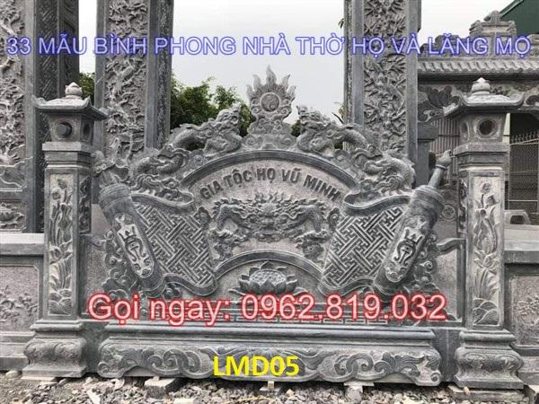 33 Mẫu bức bình phong cuốn thư tắc môn nhà thờ họ, lăng mộ đẹp ngoài trời bằng đá