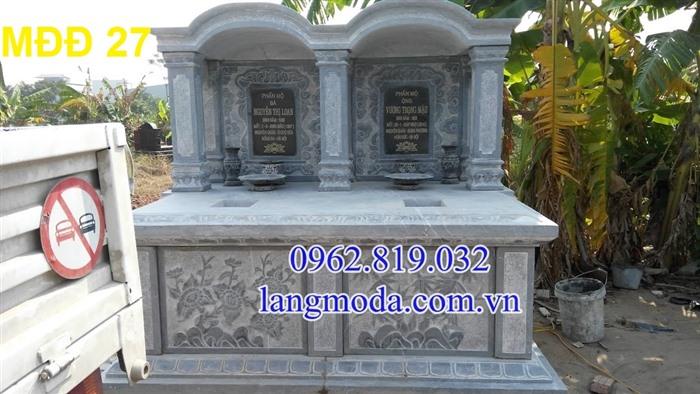 51 Mẫu mộ đôi đẹp đơn giản bằng đá xanh 10, Mộ đá đôi, Mẫu mộ đôi đẹp, Xây mộ đôi bằng đá