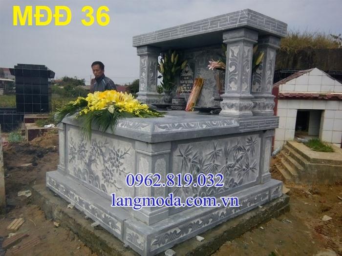 51 Mẫu mộ đôi đẹp đơn giản bằng đá xanh 14,  Mộ đá đôi, Mẫu mộ đôi đẹp, Xây mộ đôi bằng đá
