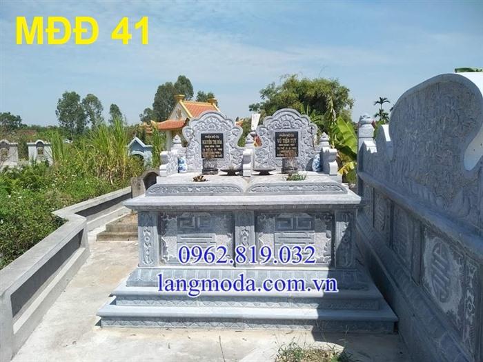 51 Mẫu mộ đôi đẹp đơn giản bằng đá xanh 17, Mộ đá đôi, Mẫu mộ đôi đẹp, Xây mộ đôi bằng đá