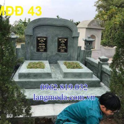 51 Mẫu mộ đôi đẹp đơn giản bằng đá xanh 20