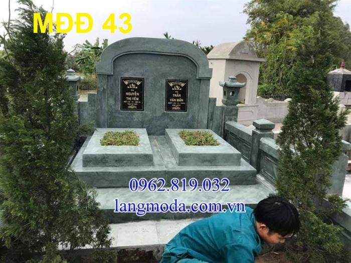 51 Mẫu mộ đôi đẹp đơn giản bằng đá xanh 20, Mộ đá đôi, Mẫu mộ đôi đẹp, Xây mộ đôi bằng đá