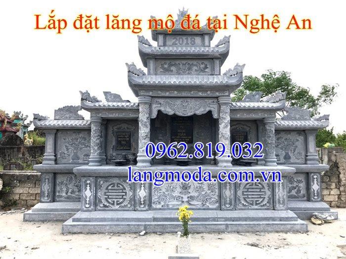 Am thờ đá - Lăng thờ đá được lắp đặt hoàn thiện tại Nghệ An