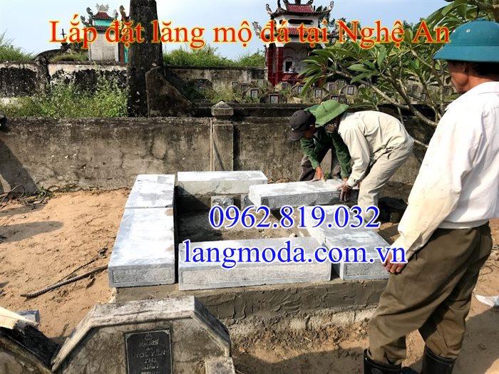 Lắp đặt mộ đôi đẹp tại Nghệ An