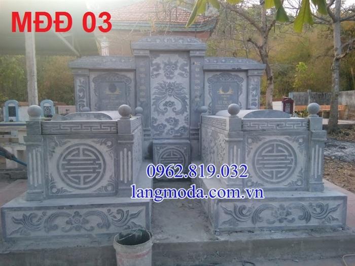 Mẫu mộ đôi xây đẹp bằng đá xanh , mộ đôi đẹp, mẫu mộ đôi đẹp, mộ đôi, mộ đá đôi, kích thước mộ đôi,