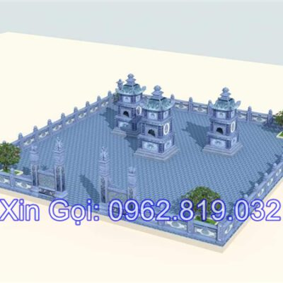 Mộ tháp phật giáo xây bằng đá để hài cốt của các vị sư khi viên tịch