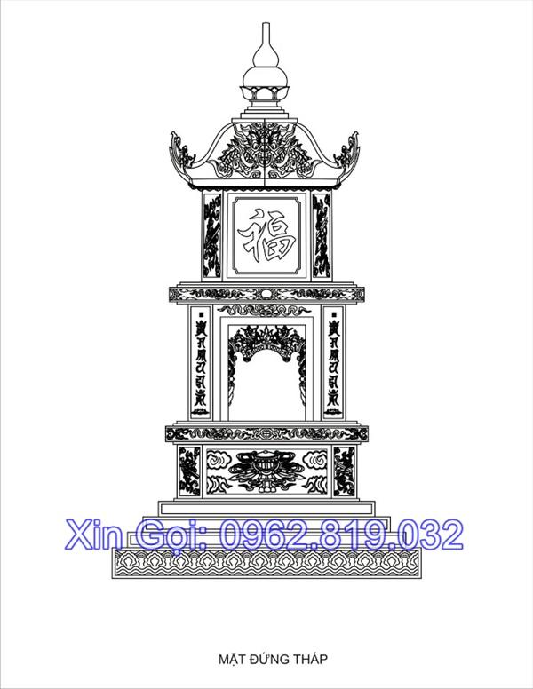 25 hình ảnh mẫu mộ tháp phật giáo xây bằng đá để hài cốt của các vị sư khi viên tịch