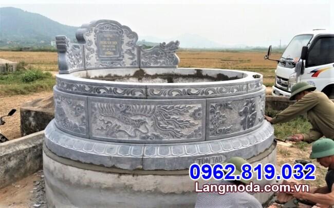 Kích thước mẫu mộ tròn bằng đá đẹp chuẩn phong thủy