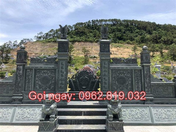 Hình ảnh mẫu khu lăng mộ đá màu trắng, xanh, vàng, đen đơn giản hiện đại giá rẻ đẹp nhất