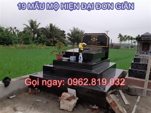 19 Mẫu lăng mộ hiện đại đơn giản giá rẻ bền đẹp làm bằng đá Thanh Hóa, Nghệ An, Granite chế tác tại Ninh Vân