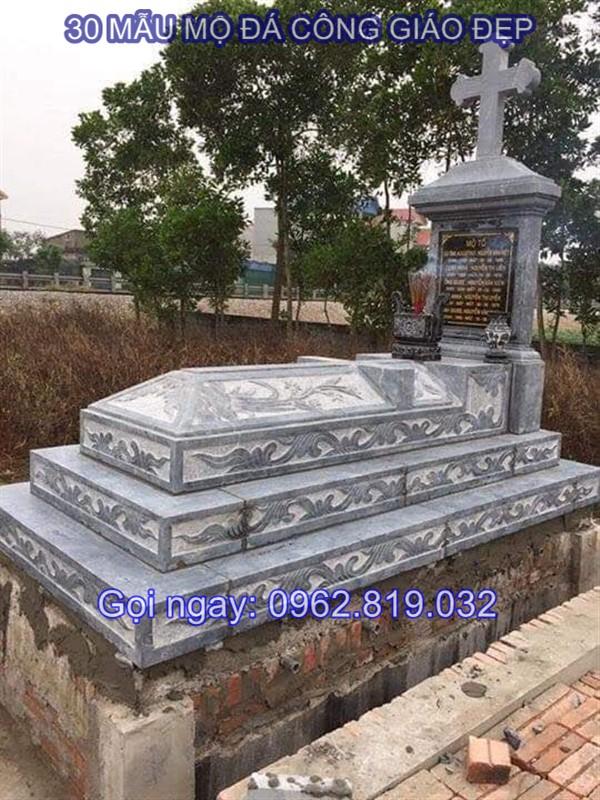 26 kiểu mộ cho nghĩa trang của người theo đạo công giáo làm bằng đá hoa cương, đá khối giá rẻ với hoa văn đặc trưng
