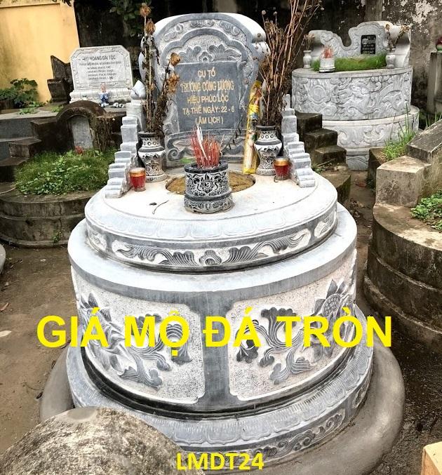 giá mẫu lăng mộ đá tròn
