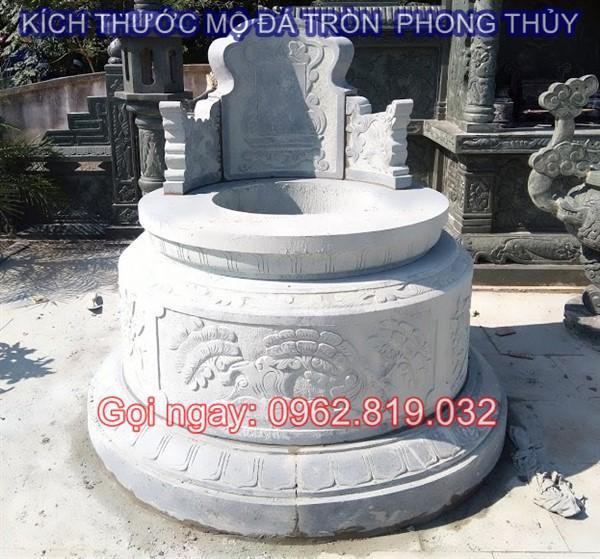 Tìm hiểu về kích thước mộ đá tròn