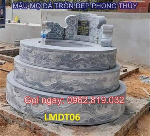 Diễn đàn rao vặt: Tại sao nên xây mẫu mộ tròn bằng đá cho ông bà cha mẹ  Mau-mo-da-tron-06