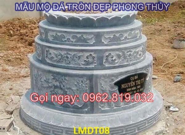 Diễn đàn rao vặt: Tại sao nên xây mẫu mộ tròn bằng đá cho ông bà cha mẹ  Mau-mo-da-tron-08