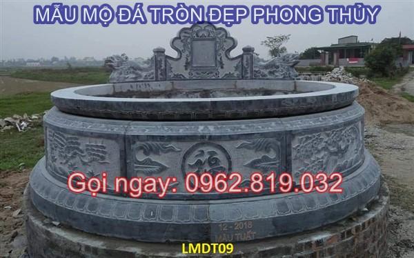 Diễn đàn rao vặt: Tại sao nên xây mẫu mộ tròn bằng đá cho ông bà cha mẹ  Mau-mo-da-tron-09