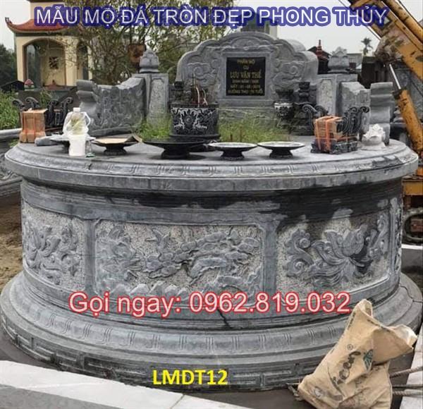 Diễn đàn rao vặt: Tại sao nên xây mẫu mộ tròn bằng đá cho ông bà cha mẹ  Mau-mo-da-tron-12