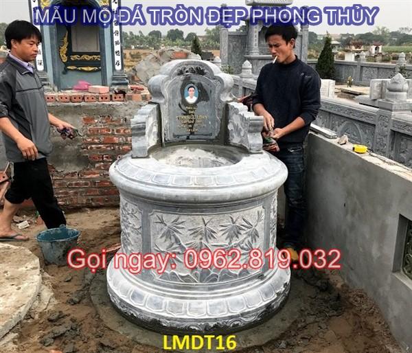 Ý nghĩa của mẫu mộ đá tròn đẹp phong thủy