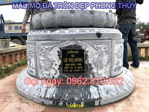 Diễn đàn rao vặt: Tại sao nên xây mẫu mộ tròn bằng đá cho ông bà cha mẹ  Mau-mo-da-tron-21