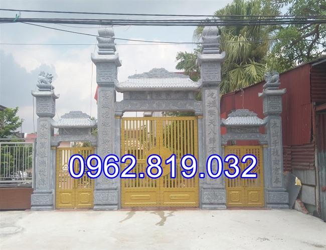 18 Mẫu cổng nhà thờ họ đẹp bằng đá khối tự nhiên;