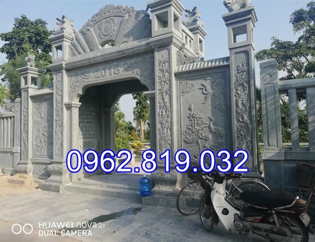 18 Mẫu cổng nhà thờ họ đẹp bằng đá khối tự nhiên 010