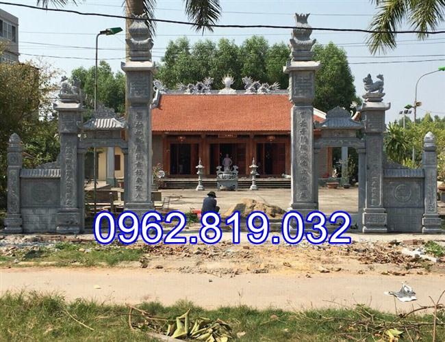 18 Mẫu cổng nhà thờ họ đẹp bằng đá khối tự nhiên 004