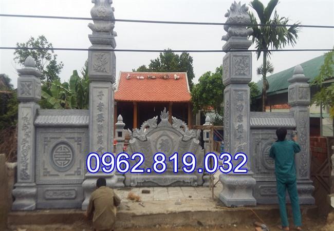 18 Mẫu cổng nhà thờ họ đẹp bằng đá khối tự nhiên 007