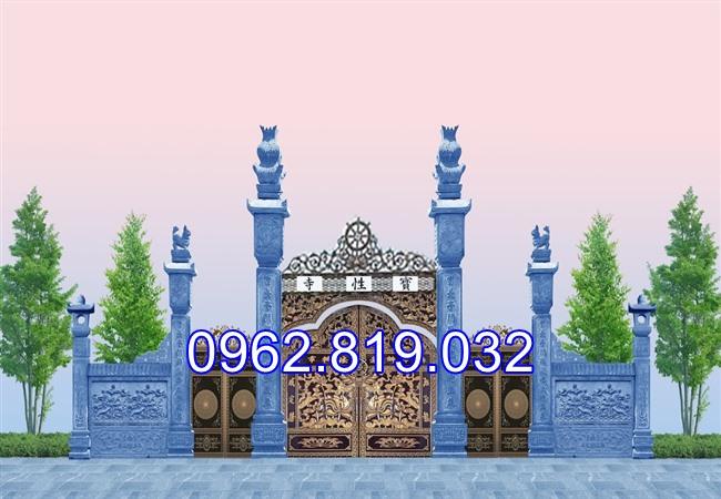 18 Mẫu cổng nhà thờ họ đẹp bằng đá khối tự nhiên 009