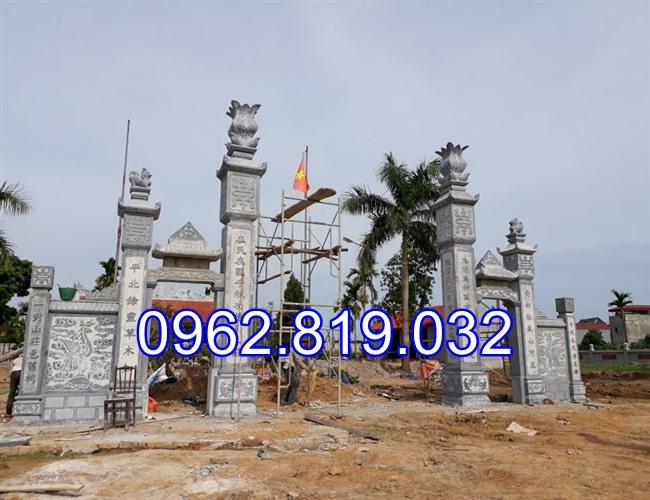 18 Mẫu cổng nhà thờ họ đẹp bằng đá khối tự nhiên 011