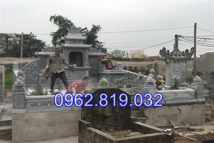 Lăng mộ đá khối đẹp tại Hải Phòng điêu khắc tinh xảo 25 -02