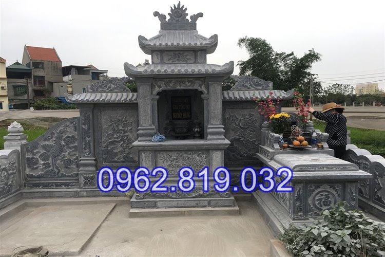 Lăng mộ đá khối đẹp tại Hải Phòng điêu khắc tinh xảo 25