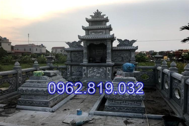 Lăng mộ đá khối gia tiên điêu khắc đẹp tại Hưng Yên 23, Mộ đá hưng yên, Lăng mộ đá Hưng Yên