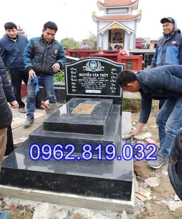 Lăng mộ đá khối gia tiên điêu khắc đẹp tại Hưng Yên 23 -02