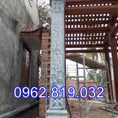 Mẫu cột hiên nhà thờ họ đẹp bằng đá khối 27, Mẫu cột hiên đẹp, Cột hiên nhà thờ họ ,